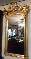Gold Mantle Mirror with Ansonia Head
