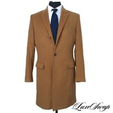 #1 MENSWEAR J. Crew Cashmere Wool Flannel Ludlow Vicuna Brown Long Top Coat 40