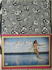 Volcom surf skateboard 2009 Miss Mod 2 sided poster Mint Condition New old stock