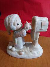 Precious Moments figurine I'M SENDING YOU A WHITE CHRISTMAS 1984 E-2829 #ZZ