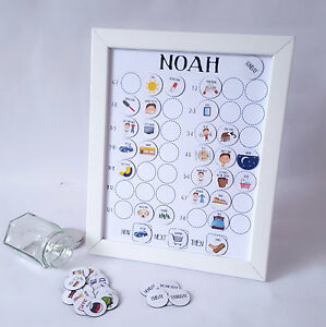 Personalised Now and Next Routine board, Autism, ADHD, toddler, magnet chart