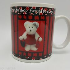 Boyds Bear Born to Shop Mug 16 oz Razz Bearies 2003 Bearware Pottery