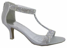 Argyle, Diamond Ankle Straps Satin Heels for Women