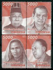 Indonesia 2018 MNH National Figures Heroes 4v Block Politicians People Stamps