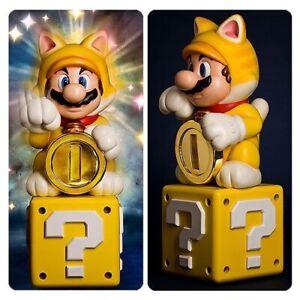 First4figures Super Mario 3D World Cat Mario Statue Regular Version Very Rare!