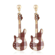 Fashion Multicolor DIY Dangle Drop Jewelry Wood Guitar Violin Earrings