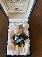 Halcyon Days Bononnieres Winston Churchill Bust Limited Edition 90/150