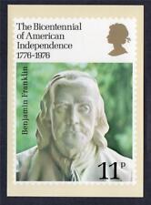 GB UNUSED 1976 (SG1005) PHQ CARD (15) BICENTENARY OF AMERICAN REVOLUTION
