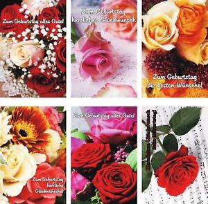 100 Glückwunschkarten zum Geburtstag Blumen 51-5102 Geburtstagskarte Grußkarte