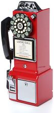 Pay Phone Vintage Old Style Retro Look Telephone Red Coin 1950 Wall Mountable