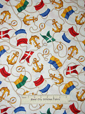 Nautical Anchor Rope Fabric ~ Cotton By The Yard ~ Windham Sail Away Regatta