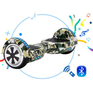 Hoverboard 6.5 Inch Bluetooth Self Electric Scooters LED Flash Wheels Camo Green