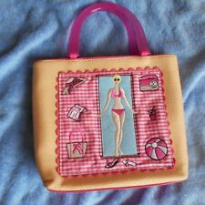 rockabilly gingham check basket NOVELTY BAG pink white WOMENS gift top new  50s.
