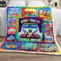 Stay Trippy, Little Hippie Sofa Fleece Blanket 50-80 Made In US