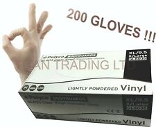 X LARGE POLYCO Bodyguard Vinyl Disposable Gloves Lightly Powdered No Latex Clear