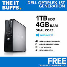 Dell OptiPlex - Dual Core 4gb 1tb-1.5tb HDD Windows 10 - Escritorio Pc Ordenador