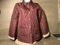 Victory Outfitters Women's Burgundy Quilted Jacket NEW NWOT SIZE S M OR L WARM