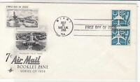 united states 1958 booklet pane stamps cover ref 20021
