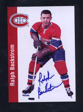 Ralph Backstrom Signed Autographed Card Canadiens Jc Loa *581974