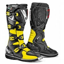 SIDI STIVALI AGUEDA CROSS ENDURO OFF ROAD TECHNOMICRO NERO GIALLO FLUO TAGLIA 42
