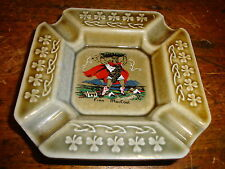 Vtg Wade Porcelain Ashtray Finn Mac Court With Shamrocks Made in Ireland Irish