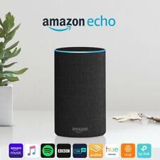 Amazon Echo (2nd Generation) - Charcoal Fabric - Open box