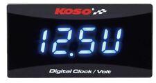 KOSO Batteriespannungsanzeige + Uhr + Voltmeter Batteriespannung Anzeige 12 Volt