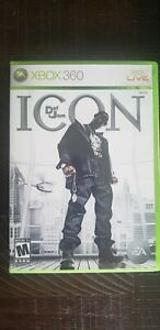 Def Jam: Icon (Microsoft Xbox 360, 2007) Complete with Manual