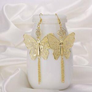 Fashion Butterfly Animal Tassel Hook Earrings Drop Dangle Women Charm Jewelry