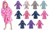 Kids Bathrobe Cute Cartoon Night Bath Robe Pajamas Girls Boys Sleepwear Gown