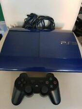 PLAYSTATION 3 500GB SUPER SLIM PS3 AZURITE BLUE CONSOLE + CONTROLLER BUNDLE