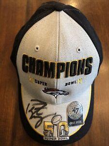 Peyton Manning HOF Colts Broncos Signed Hat 47 Brand Autographed NFL