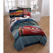 Disney Cars Boys Kids Twin Comforter & Sheets (4 Piece Bed In A Bag)