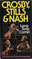 CROSBY STILLS & NASH - LONG TIME COMIN' - VHS - NTSC - NEW -Never played!! -RARE