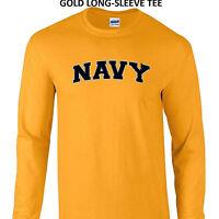 U.S. Navy Military Naval LONG-SLEEVE TEE Sm Med LG XL 2X 3X