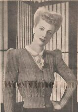 Knitting Pattern Vintage Lady's 1940s Cable Stitch Cardigan.  3ply Wool.