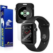 ArmorSuit - Apple Watch 42mm (SERIES 3) Screen Protector + Black Carbon Fiber