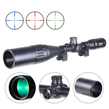 4-16X50 Rifle Scope Red Green Blue Illuminated Mil Dot Flip-Open Covers&Sunshade