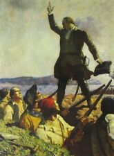 Vintage Art NC Wyeth Joseph Warren Bunker Hill Nathan Hale Revolutionary War