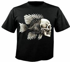 Motiv Fun T-Shirt Skull Fisch Biker Chopper Fantasy Gothic Skull Motiv Nr. 3949