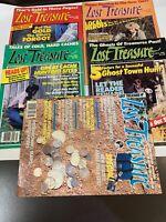 LOST TREASURE Magazine 5x LOT Jan Feb March  July 1986  Gold Ghost Town Sluice