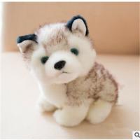 "Baby Kids Cute Stuffed Toys Gift 18cm 7"" Plush Doll Soft Toy Animal Husky Dog"