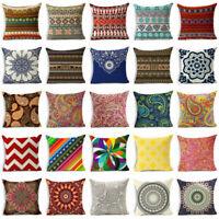 Cushion cover cotton waist Home cover Decor sofa case linen 18'' pillow Bohemia