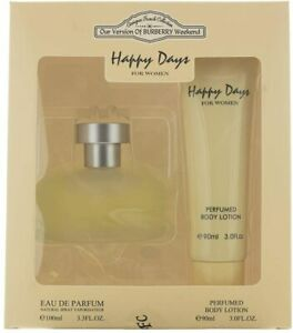 "Happy Days Gift Set, Eau De Parfume + Body Lotion ""Scent of BURBERRY WEEKEND"""