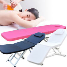 Portable Massage Table Bed 3 Folding Tattoo Beauty Salon SPA Therapy Couch Bed