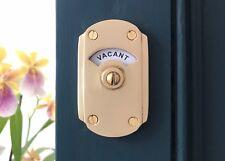 BRASS VACANT ENGAGED LOCK BOLT TOILET BATHROOM INDICATOR DOOR HANDLES KNOBS