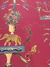 New listing thibaut Vintage wallpaper floral Pink - Two Rolls