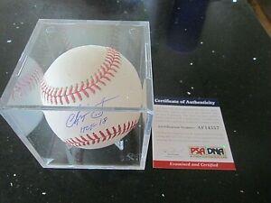 Chipper Jones Autographed Baseball With HOF Inscription PSA Certified! WOW!
