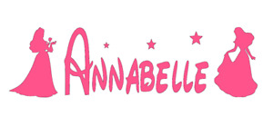 Disney Princess, Personalised, Wall, Decal, Sticker. (Add Note of Name on Order)