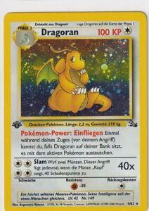 Pokemon Karte Trading Card Game Fossil Nr. 4/62 Dragoran Holo First Edition